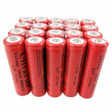 20X Battery 18650 6000mAh 3.7V-4.2V Li-Ion Rechargeable Batteries for Flashlight