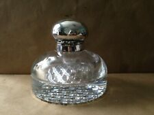 Antique 19th c Betjemann's Glass & Silverplate Large Inkwell~ Patent 11049
