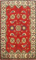 Geometric Super Kazak Oriental Hand-Knotted Area Rug Wool 3x4 Home Decor Carpet