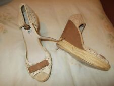 Fiore wedge peeptoe shoes size 5
