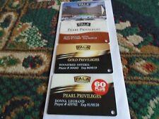 3 Players Slot Club Rewards Cards Pala Hotel & Casino,Spa Privileges+ Room Key