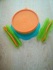 Tupper Baby Set Löffel Teller