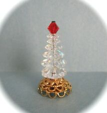 "dollhouse doll house  miniature SWAROVSKI CRYSTAL CLEAR CHRISTMAS TREE  1 1/4"""