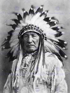 VINTAGE PHOTO NATIVE AMERICAN INDIAN AIN CHIEF NEW ART PRINT POSTER CC5333