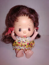 Vintage Hong Kong Sitting Doll Freckles Dressed 4 1/2""