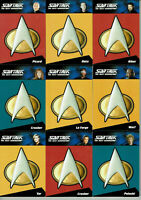 Complete Star Trek The Next Generation TNG Ser 1&2 Communicator Pin Selection CP