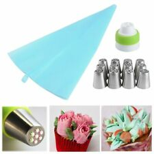 12 Russische Tulip Spritztülle Icing Piping Nozzles Set Spritzbeutel & Adapter