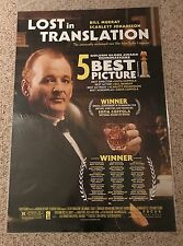 """Lost in Translation Movie Poster Full Size 27"""" X 40"""" 2 - Sided Rolled"""