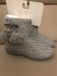 Aerosoles Women's Knit Bootie/Slippers - Gray - Size 6.5/7.5 - NEW
