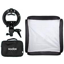 Godox 40x40cm Softbox + S-Type Bracket Bowens Holder+ Bag Kit for Camera Flash