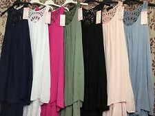 Italian Ladies Lace Back Dress Lagenlook Tunic Long Women Top Quirky Kaftan Boho