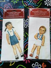 New 2 Old Fashioned Queen Holden's Cut Out Paper Dolls Costumes Alex & Ted