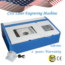 US 40W CO2 Laser Engraving Cutting Machine Engraver Cutter DIY USB Port  Precise