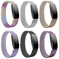 US For Fitbit Inspire /HR /2 Milanese Stainless Steel Magnetic Band Watch Strap