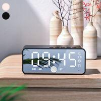 Miroir LED Réveil numérique Subwoofer Haut-parleur Bluetooth sans fil Radio SH