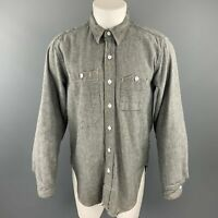 ENGINEERED GARMENTS Size M Gray Cotton Button Up Long Sleeve Shirt