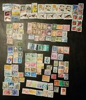 USED lot of 137 mixed Worldwide Postage  Stamps Off Paper Unique