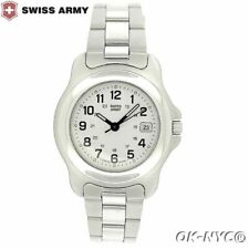 Women's SWISS ARMY  Sapphire Crystal Steel Date W/R 330 Feet Quartz 30 MM Watch