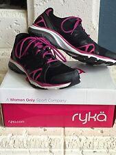 RYKA VIDA RZX Training Shoes sz 10.5 10 1/2 Black Gray Pink Dance Pivot
