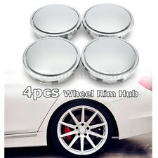 Set of 4 Universal Chrome Car Wheel Center Caps Tyre Rim Hub Cap Cover ABS 65mm