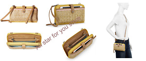 The Sak Women's Crossbody bag Iris Large Smartphone Sunlight Straw Wallets