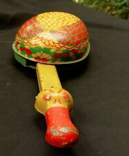 Unusual tin litho Goose pull toy wooden wheels makes honk-like noise ca 1930s