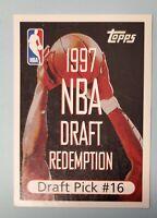 1997-98 TOPPS BASKETBALL NBA DRAFT REDEMPTION #16 UNREDEEMED BREVIN KNIGHT CAVS