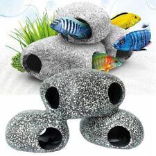 Aquarium Cichlid Stones Resin Rock Shrimps Cave Ornament Fish Tank Pond Decor