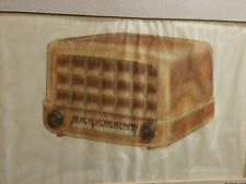 1947 Eugene Kruk Original Bakelite Tube Radio Prototype Drawing Design Mid Centu