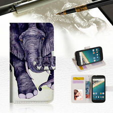 Elephant Wallet Case Cover For Alcatel Pop Star - A007