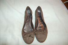 Saks Fifth Avenue Brown Suede Ballet Flats Size 5 1/2 M