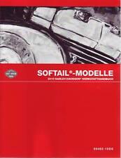 HARLEY-DAVIDSON Werkstatt-Handbuch DEUTSCH 2010 Softail Modelle Anleitung Buch