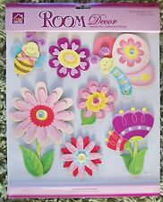 Nursery Children Child Girl Baby Flower Butterfly Wall Sticker Decal Bedroom