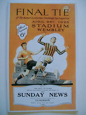 1926 FA Cup final programme,Ticket & free teamsheet Bolton W. v Manchester City