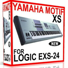 YAMAHA MOTIF XS For APPLE LOGIC EXS EXS-24 Patches/Presets/Sounds 7 DVD'S 24GB