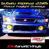 97-01 Impreza 2.5RS RS Fog light EDM RALLY JDM Yellow TINT Overlays Vinyl Film