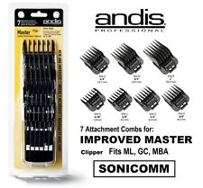 Andis 7 Pieces Combs Set - Improved Master Clipper- NEW~Fast Ship~