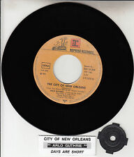 """ARLO GUTHRIE The City Of New Orleans 7"""" 45 rpm record + juke box title strip"""