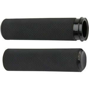 Arlen Ness Black Knurled Fusion Grips for 2008-2018 Harley Throttle-By-Wire