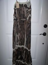 NWT ALL SAINTS CO SPITALFIELDS SILK AVIARY LACE EBONY MOTTLE MAXI DRESS. 0. $395