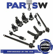 10pc Detroit Axle Replacement for 1991-1996 Dodge Dakota 2WD Front Sway Bars Inner Outer Tie Rod Lower Upper Ball Joints