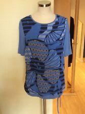 Bianca Top Size 18 BNWT Blue Taupe Drawstring Hem RRP £64.95 Now £29