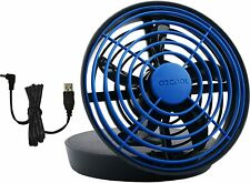 "O2COOL 5"" Portable USB or Batteries Powered 2 Speed Table Fan, Blue, BRAND NEW"