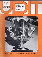 DECEMBER 1976 DAYTON FLYER BASKETBALL INVITATIONAL TOURNAMENT PROGRAM-4 TEAMS