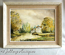 Framed Oil on Board Landscape Painting by John Constable Reeve Signed Dated 1991