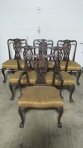 Chippendale Mahogany Chippendale Claw Chairs Dining Room Set