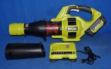 Ryobi Ry40403 480 Cfm Variable-Speed Li-ion Jet Fan Turbo Leaf Blower Kit