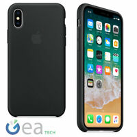 Custodia in Silicone Originale APPLE Per iPhone X Back Cover Case Soft Touch
