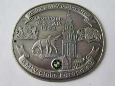 BMW CLUBTREFFEN GRONINGEN 1984 CLUB MEETING HOLLAND BADGE PLAKETTE PLAQUE PLACCA