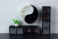 Yin Yang Shelves - Dollhouse Miniature 1:12 Miniature Dollhouse Furniture
